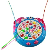 Fishing Game Electronic Spin Fish Board Game Educational Fishing Toys with Music Great Gift for Kids Children
