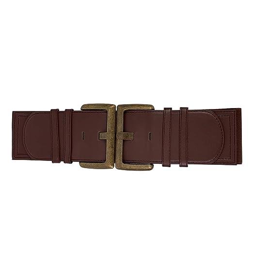 Trimming Shop 30 Pulgadas Mujer Marrón Cinturón con Bronce Hebilla ...