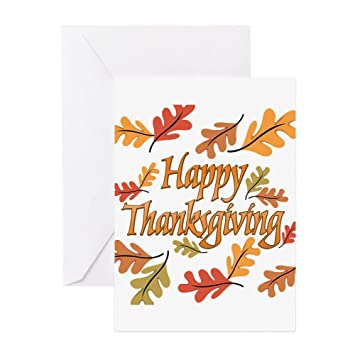 Cafepress Happy Thanksgiving Greeting Card Note Card Birthday Card Blank Inside