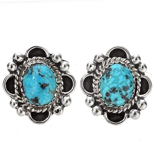 9bb5a330a Image Unavailable. Image not available for. Color: Natural Kingman Spiderweb  Turquoise Earrings Navajo Post ...