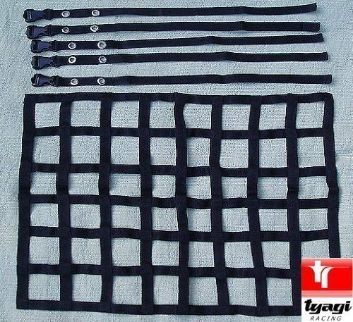 Motorsports Safety Roll Cage Net Racing Car Window Mesh Nets with Fixing Straps