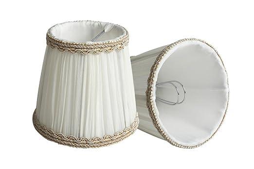 Mini Lampenschirme Für Kronleuchter ~ Lampenschirme modernen europäischen stil e cremeweiß stoff