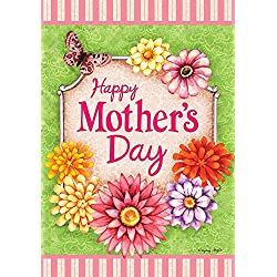 """Happy Mother's Day Floral Garden Flag Butterfly Flowers 12.5""""x18"""" Briarwood Lane"""