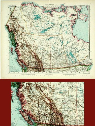 Map Of Canada 1905.Amazon Com Antique Map West Canada America Stieler C 1905