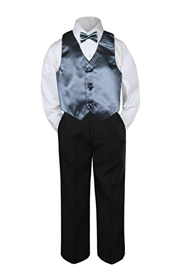 Amazon.com: leadertux 4pc Formal bebé adolescentes Boy gris ...