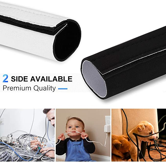 AGPTEK Universal Funda para Cables en Material Elastico de ...