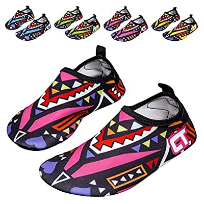 SILISITE Girls/Boys Lightweight Water Shoes Soft Barefoot Shoes Quick-Dry Aqua Socks Beach Swimming