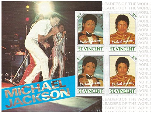 Michael Jackson with the Jackson 5 live in concert stamp sheet for stamp collecting - Imperforate / St. Vincent Mnh Souvenir Sheet