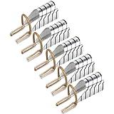 Formes d'ongles réutilisables gel UV acrylique french blanc argenté très utiles!
