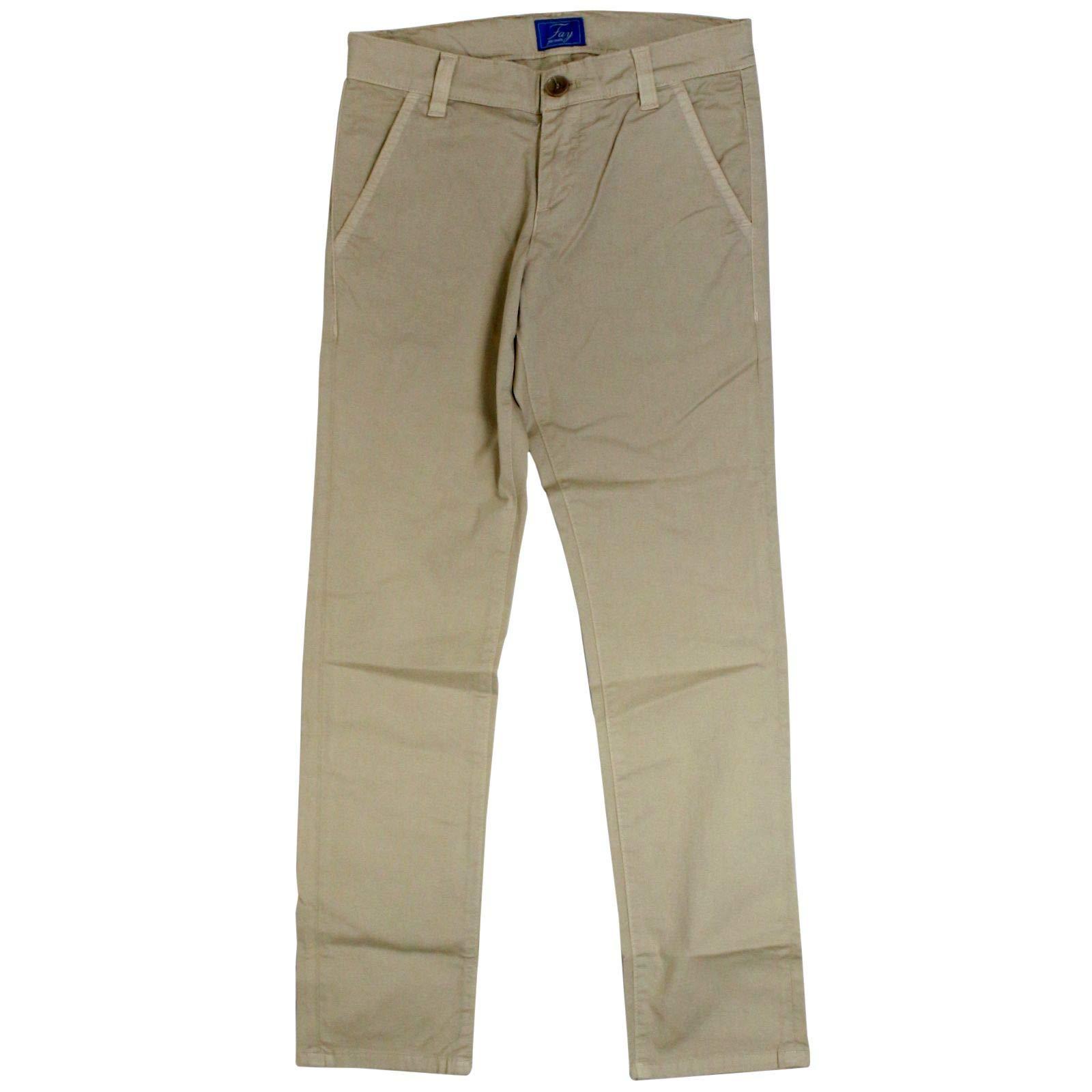 fay Boys Nuh8038732tqpsc001 Beige Cotton Pants