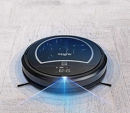 ZNSDLE Robot Aspirador con la succión Fuerte, sensores Infrarrojos y anticaída, Robot de Limpieza para Suelos, para Delgada alfombras, Negro [Clase de eficiencia energética A+]: Amazon.es: Hogar