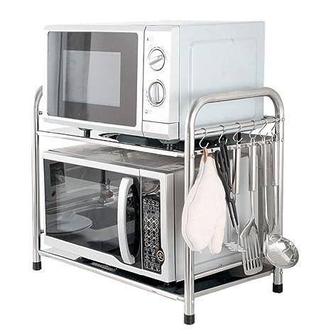 Microondas horno de carro Cocina de almacenamiento en rack ...