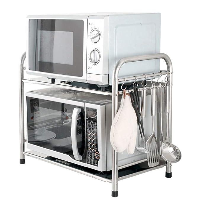 Microondas horno de carro Cocina de almacenamiento en rack de ...