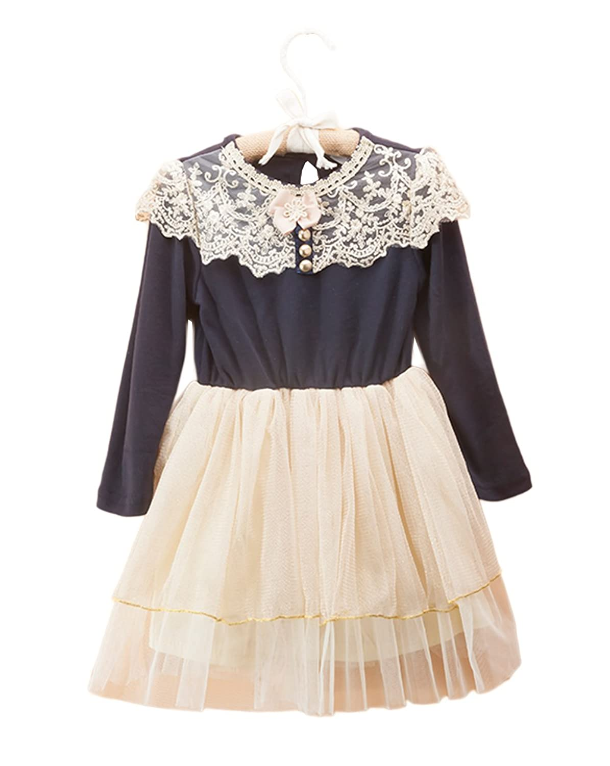 Vintage Style Children's Clothing: Girls, Boys, Baby, Toddler StylesILove Classic Victorian Embroidered Lace Tutu Girl Dress $22.99 AT vintagedancer.com