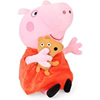 Peppa Pig with Bear Plush, Multi Color (30cm) (30 cm)