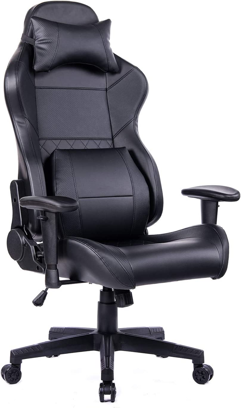 HEALGEN Gaming Office Chair with Large Lumbar Support,Reclining High Back  Ergonomic Memory Foam Desk Chair,Racing Style PC Computer Executive Leather