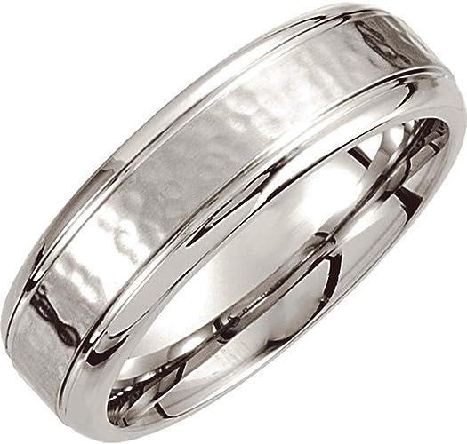 Size 11.5 Dura Cobalt Wedding Band Ring with Satin Finish