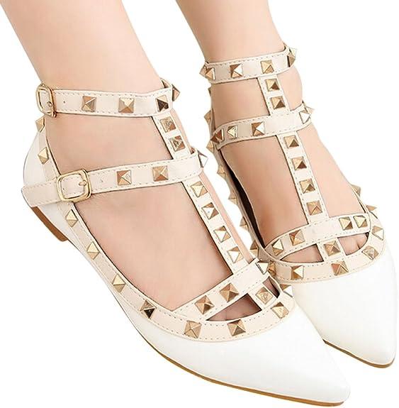 basse cinghia alla caviglia Ochenta scarpa da donna borchie