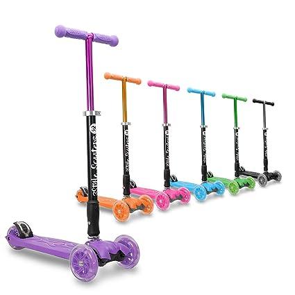 3StyleScooters® RGS-2 Patinete de Tres Ruedas, para Niños de 5+ años - Plegable, Ruedas iluminadas LED, Ligero y con Altura Manillar y Asas Ajustables