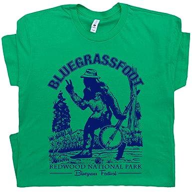 8a489b5c S - Bigfoot Banjo T Shirts Bluegrass Tee Cool Graphic Sasquatch Vintage  Folk Band Music Festival