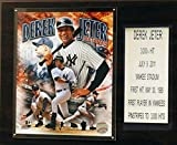 MLB New York Yankees Derek Jeter Last Hit Plaque, 12 x 15-Inch, Brown