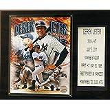 MLB New York Yankees Derek Jeter Last Hit Plaque, 12 x 15-Inch, Brown