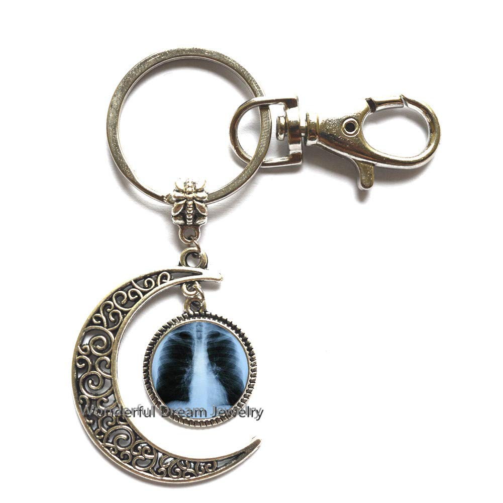 Amazon.com: Llavero de luna de cristal, diseño de cúpula de ...