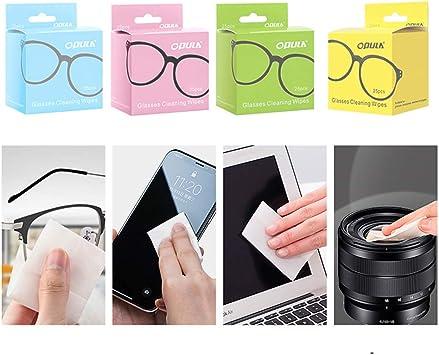 25pcs Toallitas de Limpieza portátiles Desechables envueltas Individualmente Toallitas de Limpieza Toallitas de Limpieza de Pantalla para teléfono, computadora, cámara, etc. (Azul): Amazon.es: Electrónica