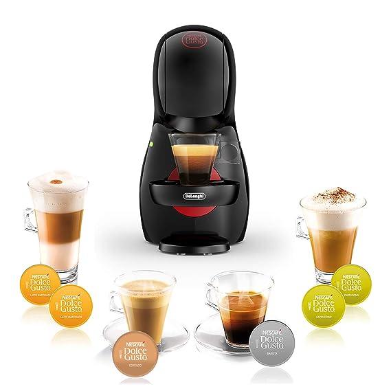 DeLonghi Dolce Gusto Piccolo XS EDG210.B - Cafetera de cápsulas, 15 bares de presión, diseño compacto, color negro
