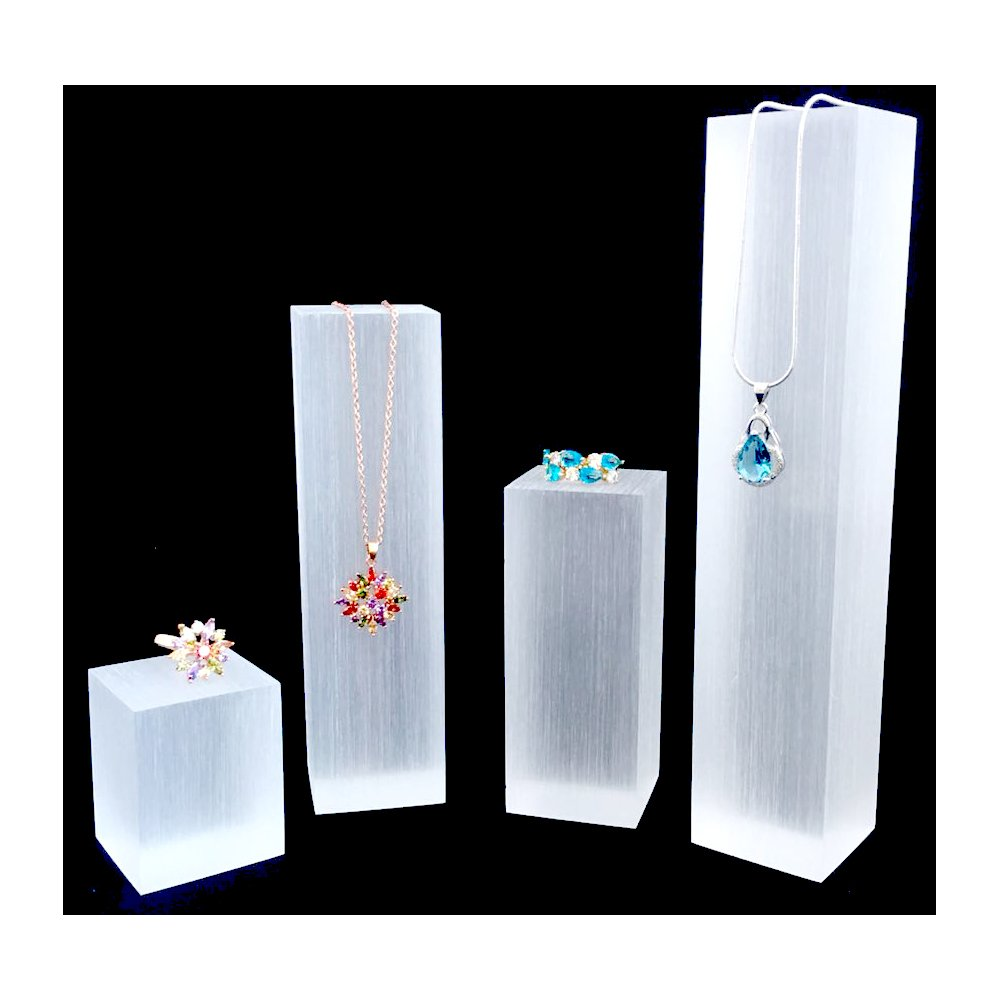 Modern Acyrlic Jewelry Display Stands Multi Function Fine Exhibition Necklace Stands Ring Earrings Trade Show Store Gallery (Glossy)