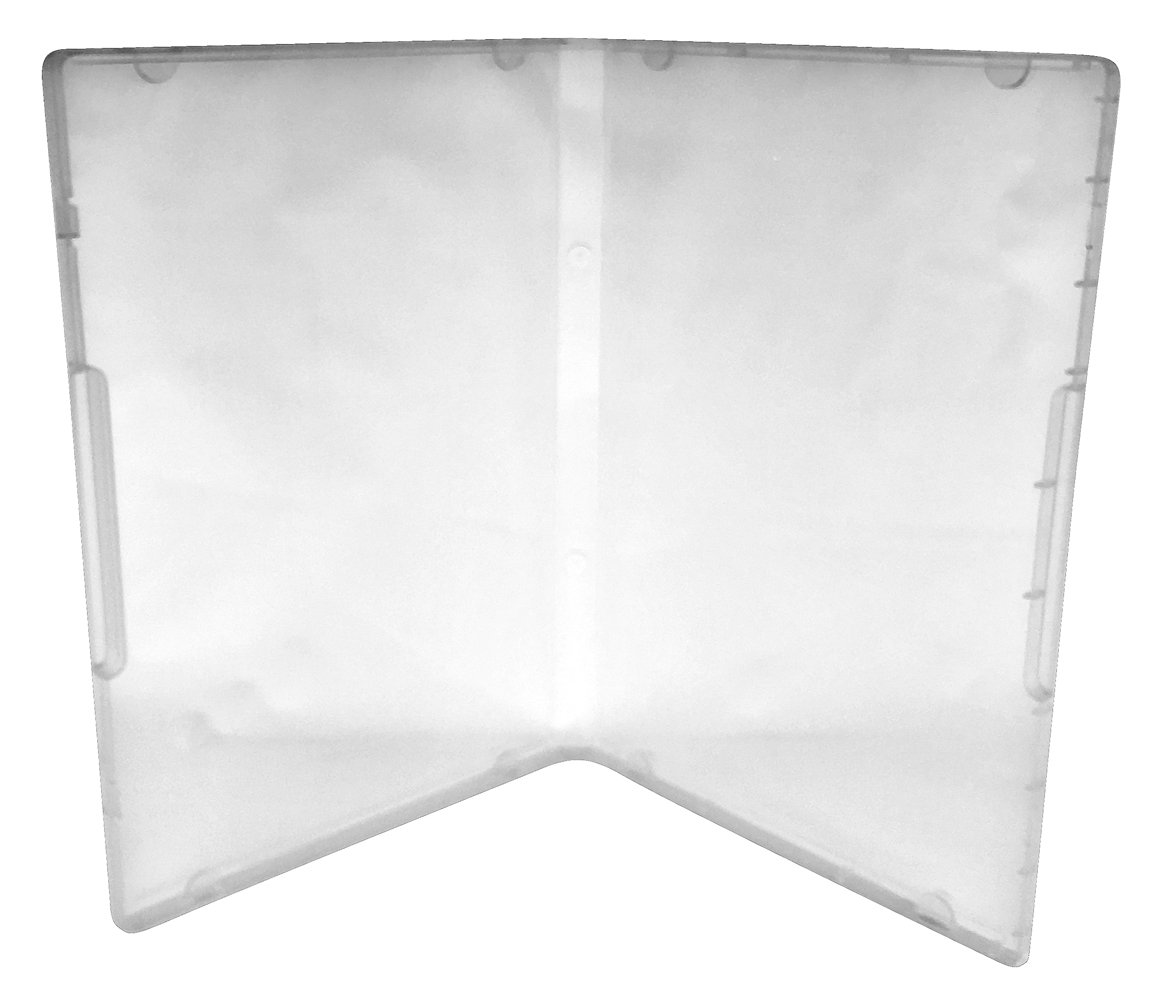 (100) CheckOutStore Plastic Storage Cases for Rubber Stamps (Clear/Spine: 14 mm / 8 Tabs)