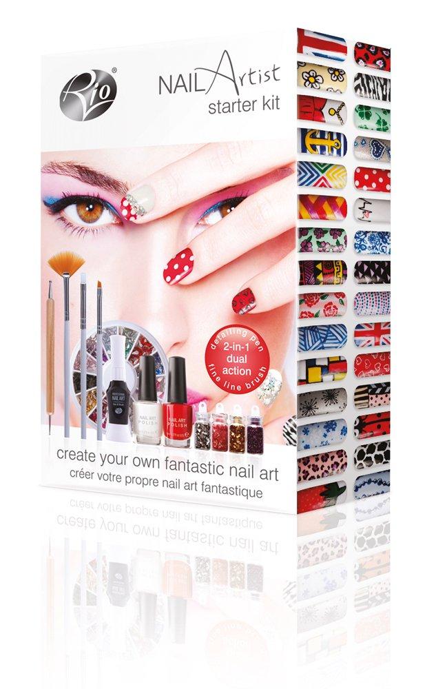 Rio nail artist nail art starter kit amazon beauty prinsesfo Choice Image