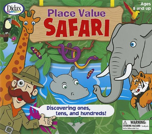place value safari board game for kids