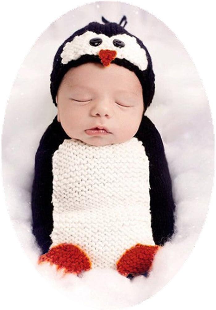 Hand crocheted Penguin children/'s hat