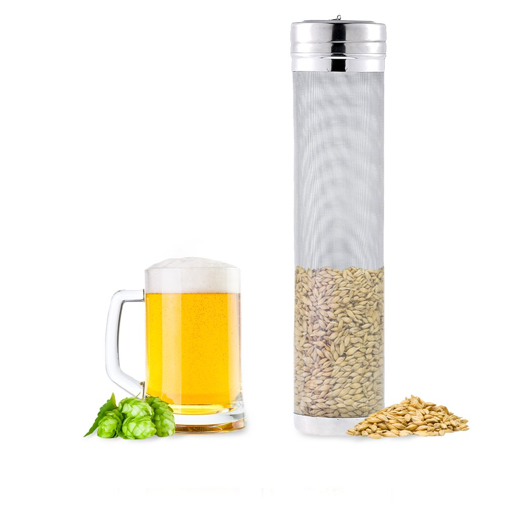 Floratek Beer Dry Hopper Filter 18x7cm Stainless Steel Hop Spider Homebrew Beer Wine Coffee Filter Strainer with 300 Micron Mesh for Keg (18 * 7cm)