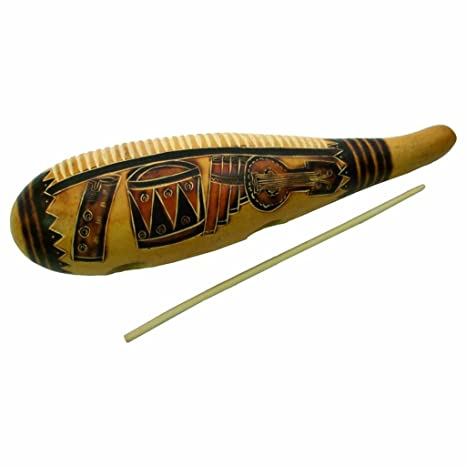 e21569b23 Amazon.com  Traditional Gourd Guiro with Wooden Striker  Musical Instruments