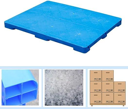 LIANGJUN-Palés Pallet plástico A Prueba De Humedad Tablero Bienes Almacenamiento Jardín Al Aire Libre Balcón, Cargar Los Portes (Color : Blue-2pack, Size : 80x60x5cm): Amazon.es: Hogar