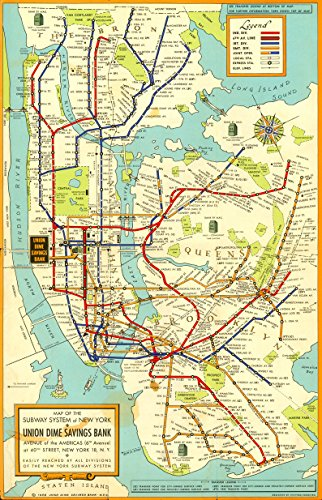 mta subway map poster