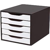 Souza 3339, Caixa Correspondência, Madeira Arquivo, 05 Gavetas, Preto/Branco