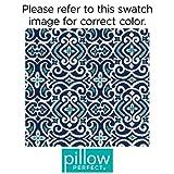 Pillow Perfect Outdoor/Indoor New Damask Marine