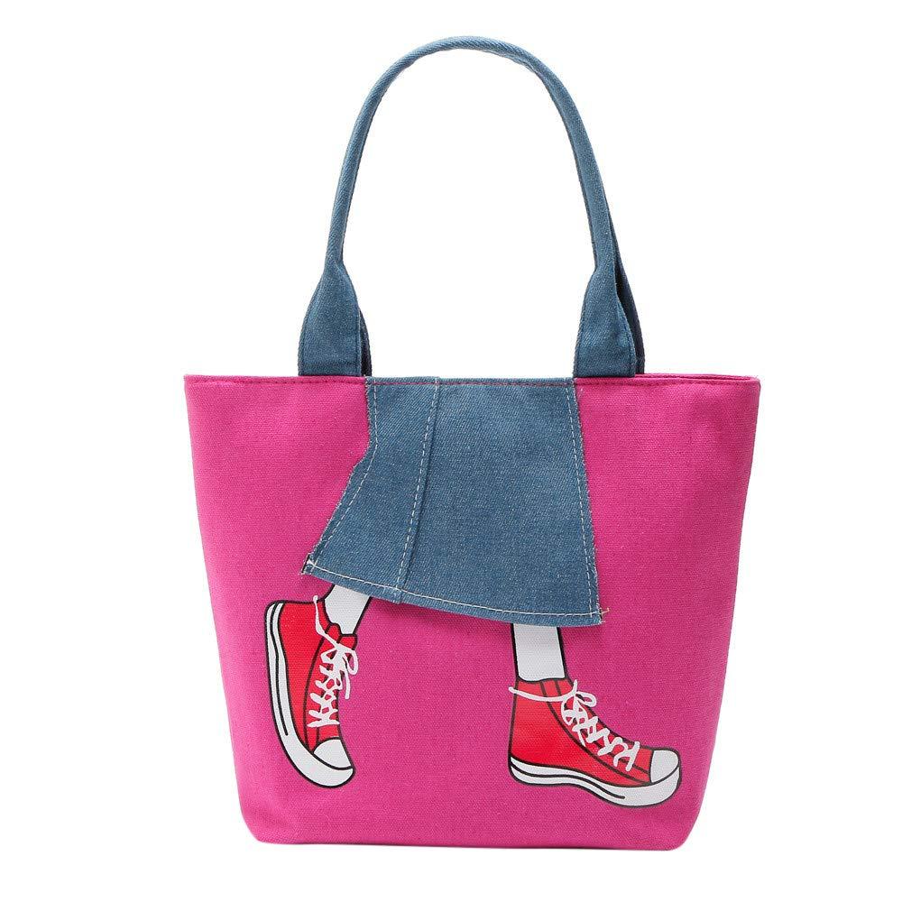 Clearance ❤ Women Bag JJLIKER Zipper Patchwork Cowboy Canvas Shoulder Tote Bag