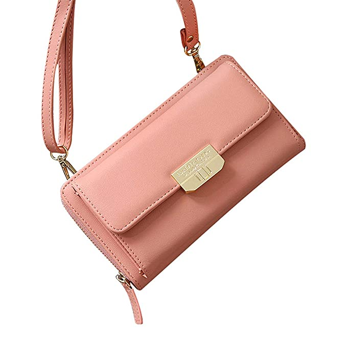 bf8d7545d1b Amazon.com: Women Vegan Leather Crossbody Bag, Techcircle Zip Around ...