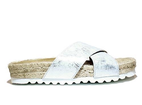 89386b9ad4 VIGUERA 84230101 Zapatos Zueco enérgicas contra Sandalia, Nueva COLECCIÓN  Primavera Verano 2016 Cuero Plata: Amazon.es: Zapatos y complementos