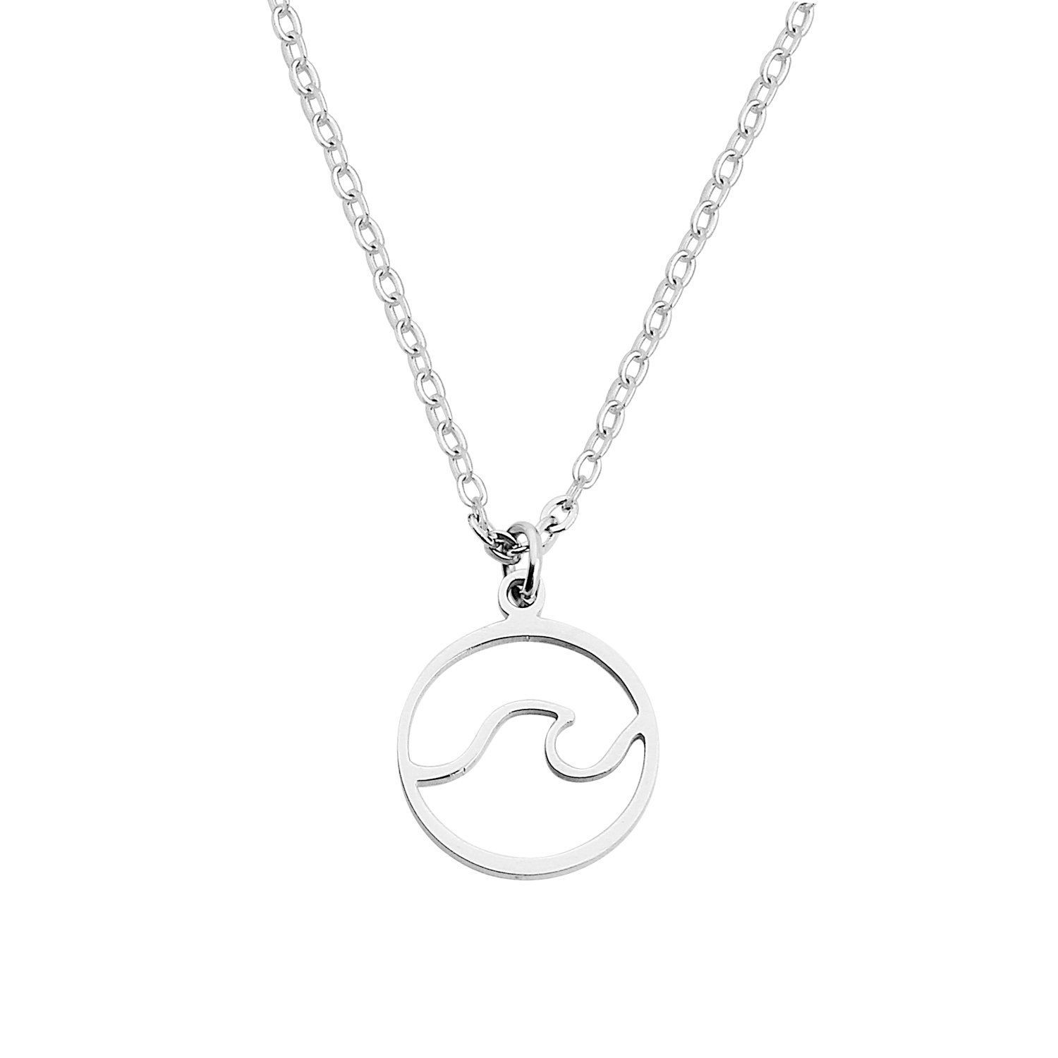 MYOSPARK Tiny Wave Necklace Ocean Wave Jewelry Gift for Surf Beach Lover (Wave Necklace)