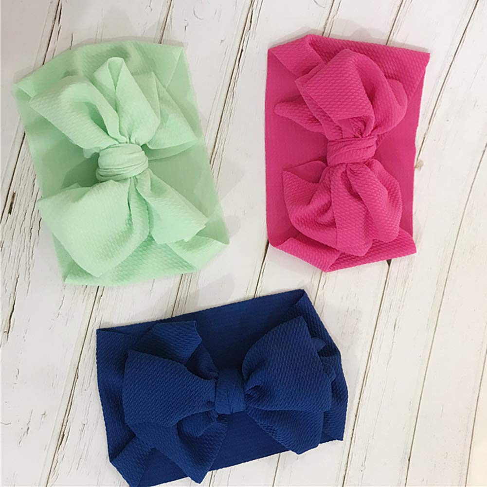 Yissma Baby Headbands Knotted Head Wraps Bow Hair Band Hairbands for Newborn,Toddler and Childrens