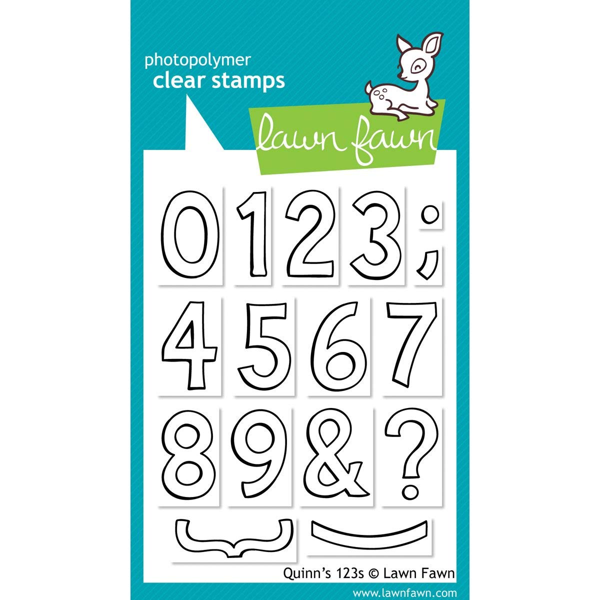 Lawn Fawn - Clear Acrylic Stamps - Quinn's 123s 316747
