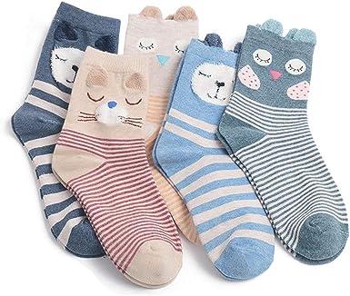 Calcetines Mujer de Algodón Animal Calcetines de Algodón Lindos Calcetines de Animales Calcetines Antideslizantes para Niña Calcetines, Calcetines de Invierno: Amazon.es: Ropa y accesorios