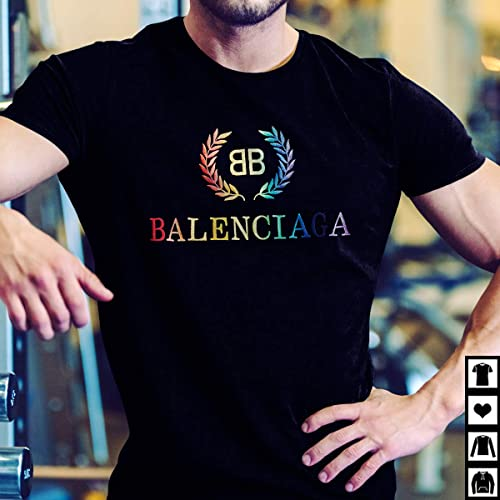 729b2cba Amazon.com: BB Balenciaga T-shirt in black and multicolor embroidery light  jersey: Handmade