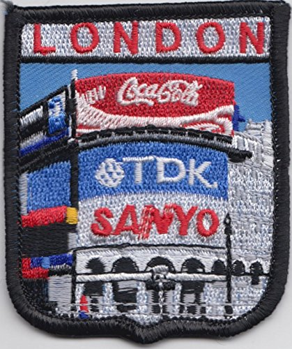 London Piccadilly Circus Westminster West End Embroidered Badge