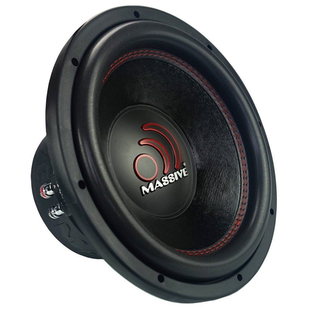Car Subwoofer by Massive Audio Jeep 2.5 inch Voice Coil Subwoofers Woofer with Amazing Sound for Truck Sub Subs Speaker Speakers Sold Individually Cars 10in Inch GTX104 1400W Dual 4 Ohm